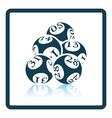 Lotto balls icon vector image vector image