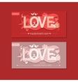 Love typography vector image vector image