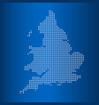matrix map of united kingdom vector image