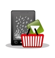 mobile music buying online digital vector image vector image