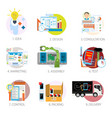 modern gadgets and devices production and selling vector image