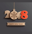modern happy new year 2018 design vector image vector image