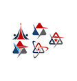 modern logo solution set letter a vector image