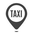 monochrome taxi location icon vector image vector image