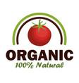 Organic product guaranteed seal