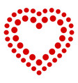 points heart icon simple style vector image vector image