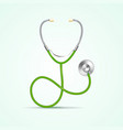 realistic detailed 3d medical green stethoscope vector image vector image