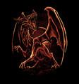 red dragon art vector image