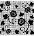 Seamless background of black lace vector image vector image