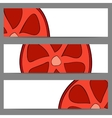 Set of banners with doodle grapefruit vector image