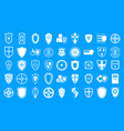 shield icon blue set vector image vector image