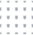 shield icon pattern seamless white background vector image vector image