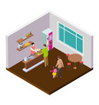 small coffee cafe or shop isometric vector image vector image