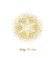 snowflake - christmas design snowflake with vector image vector image