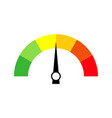 speedometer icon or sign with arrow colorful vector image vector image
