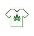 t-shirt designs with cannabis motifs t-shirt with vector image vector image