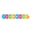 Teamwork word vector image