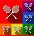 tennis racquets sign set of icons with vector image