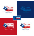 texas map and flag vector image vector image