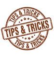 tips tricks brown grunge round vintage rubber vector image vector image