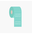 Toilet paper roll icon with dash line Flat design vector image vector image