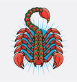 traditional scorpion tattoo ideas vector image vector image