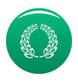 trophy wreath icon green vector image vector image