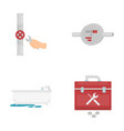 water meter bath and other equipmentplumbing set vector image vector image