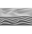 wave vertical abstract lines black and white vector image vector image