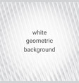 white abstract geometric background vector image vector image