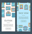 window flat icons web banners vector image vector image