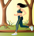 workout-in-the-park vector image vector image