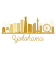Yokohama City skyline golden silhouette vector image vector image