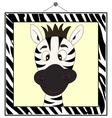zebra portrait in frame vector image