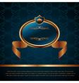 royal background with artistic award golden frame vector image