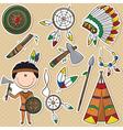 Native American Man vector image
