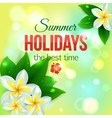 Summer shining typographical background with vector image