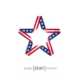 4th july independence day star from ribbon