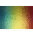 Abstract 2D triangle geometric multicolor vector image vector image
