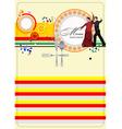 al 0329 spanish restaurant menu vector image vector image
