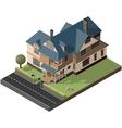 American Cottage villa vector image