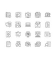 api line icons signs set outline vector image vector image