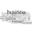 are you scared to start a home based business vector image vector image