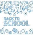 Back to school A white background vector image vector image