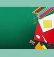 back to school creative realistic school vector image vector image