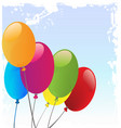 balloons celebration template vector image vector image