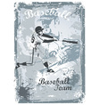 base ball grunge vector image vector image