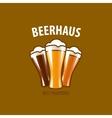 beer logo vector image vector image