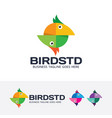 bird studio logo design vector image