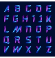 blue and purple color english alphabet letters set vector image vector image
